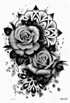 ideas for flowers tattoo desing tatoo Mandala Tattoos For Women, Cover Up Tattoos For Women, Shoulder Tattoos For Women, Best Cover Up Tattoos, Fake Tattoos, Body Art Tattoos, Sleeve Tattoos, Cool Tattoos, Badass Tattoos