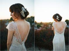 Illusion back wedding dress | Maggie Sottero Ettia | Romantic Gatsby wedding shoot | Alyssa Michelle Photography | www.borrowedandblue.kiwi