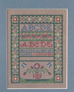 Cross stitch sampler notecard
