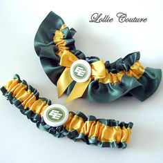 EE Wedding Garter Football toss Bride to be by lolliecouture