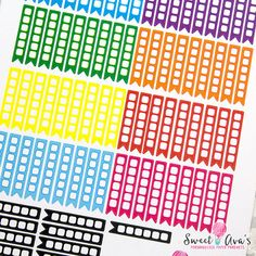 You will receive 81 Checklist Box Page Flag journal stickers, that fit the Erin Condren Life Planners or other brands that fit EC Sizes.  You are