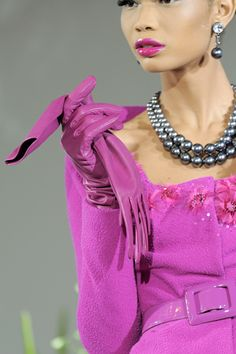 Pink with Pearls at Jean Paul Gaulthier
