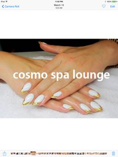 Dripping in gold #cosmospalounge #nailart #handpainted #gold #foil #goldtips
