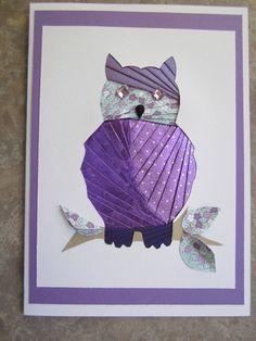 Iris folding Owl