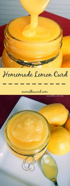 homemade lemon curd long