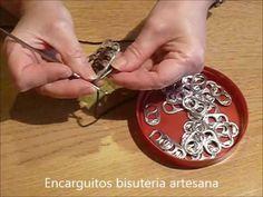 COMO UNIR ANILLAS DE LATA   NUEVA TECNICA - YouTube