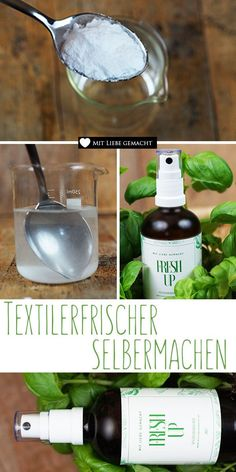 Textilerfrischer selber machen Make your own textile freshener – freshness is absorbed at home! A nice DIY with essential oils! Very nice Diy wood paletVery nice Diy wood paletDIY Natural Febreze It