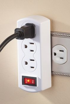 Triple Plug Outlet Adapter With on off Switch