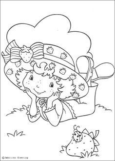 Desenhos da MORANGUINHO para colorir - Desenho da Moranguinho com