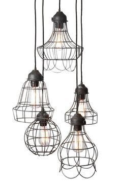 ワイヤーファイブライトペンダント - ペンダント照明 - 天井器具 - 照明| HomeDecorators.com