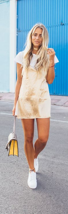 Golden // Ragdoll LA shirt/ Sisters The Label dress / Gucci bag/ Senso shoes // Fashion Look by Janni Deler
