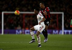 Manchester United striker Martial cut a lonely figure up front for the visitors against a stubborn Bournemouth defence