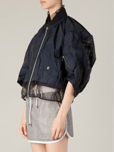 Sacai Sporty Oversized Cape in Blue