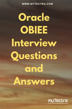 Oracle OBIEE Interview Questions and Answers : Read the most frequently asked 80 top OBIEE interview questions and answers for freshers and experienced also.All the Best for your interview. Data Science, Computer Science, Question And Answer, This Or That Questions, Interview Questions And Answers, Information Technology, Training Courses, Learning, Top