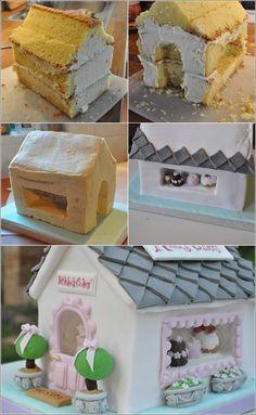 Képtalálat a következőre: house cake Fondant Cake Designs, Fondant Cakes, Cupcake Cakes, Cupcakes, Cake Decorating Techniques, Cake Decorating Tutorials, Welcome Home Cakes, Housewarming Cake, Building Cake