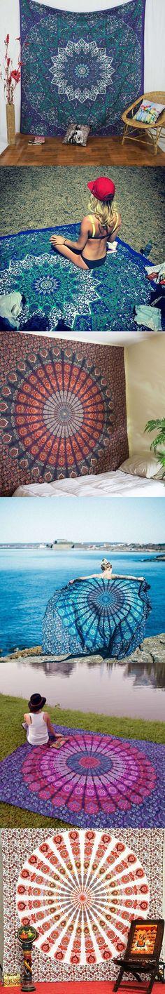 Indian Mandala Tapestry Hippie Home Decorative Wall Hanging Tapestries Boho Beach Towel Yoga Mat Bedspread Table Cloth Indian Mandala, Hippie Home Decor, Mandala Tapestry, Tapestry Wall Hanging, Tapestries, Bed Spreads, Beach Towel, Yoga, Table