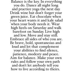 Balance is the key.✌ strive