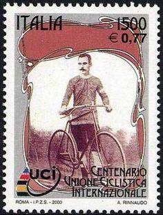 Lo sport italiano - Centenario dell'Unione Ciclistica Internazionale - ciclista del primo novecento 2000