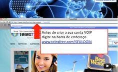 PASSO 2 - Coloque na barra de endereço do seu navegador o site telexfree com seu LOGIN