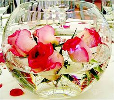 If using vivid colours, then a lower centrepiece may also work.