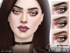 Lion Eyebrows N121 by Pralinesims at TSR • Sims 4 Updates