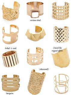 bold, statement cuffs... all you need is one. by lakisha