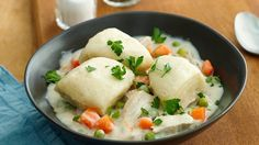 This recipe for chicken and dumplings is as easy as it gets!