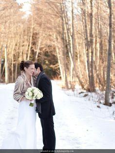 winter wedding fur snuggle