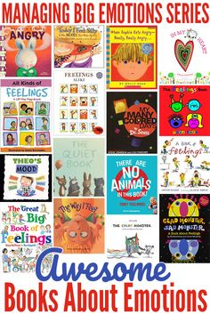 16 books for helping children learn to identify emotions and their causes, and for helping children learn strategies for managing their own feelings and emotions. Emotions Preschool, Preschool Books, Teaching Emotions, Best Children Books, Childrens Books, Helping Children, Best Toddler Books, Childrens Yoga, Kid Books