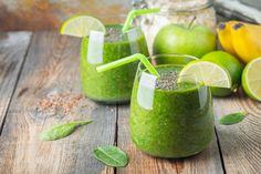 10 recetas de batidos para bajar de peso - Adelgazar en casa Food Now, Healthy Green Smoothies, Lose Weight At Home, Deli, Smoothie Recipes, Celery, Health Fitness, Healthy Recipes, Fruit
