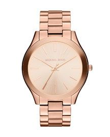 Michael Kors Michael Kors Mid-Size Rose Golden Stainless Steel Runway Three-Hand Watch