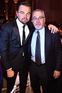 Former Costars Leonardo DiCaprio and Robert De Niro Have a Sweet Reunion at an NYC Gala