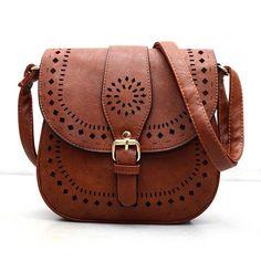 Bohemain Handtoolled Vegan Leather Saddle Bag   Bohemain HandtoolledVEGAN Leather Saddle BagInterior: Interior Slot Pocket,Cell Phone Pocket,Interi   Primary View   Sassy Posh