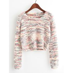 To find out about the Round Neck Crop Knit Sweater at SHEIN, part of our latest Sweaters ready to shop online today! Cropped Knit Sweater, White Knit Sweater, Long Sleeve Sweater, Pullover Sweaters, Women's Sweaters, Knit Shirt, Winter Sweaters, Casual Sweaters, Sweaters For Women