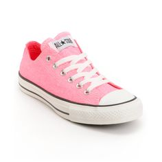 6c9e374ed363 The original sneaker now in a Washed Neon Pink colorway the Converse Chuck  Taylor All Star low top shoe gives Crayola a run for its money. This all  canvas ...