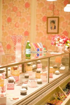 display case- add the bell shaped glass over each cupcake