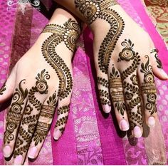 Forget the traditional clichéd mehndi, and welcome modern designs! From dot work to finger glove art, the latest mehndi designs are giving us serious goals to get them done asap! Check out the trendy mehndi designs here! Dulhan Mehndi Designs, Mehndi Designs Finger, Peacock Mehndi Designs, Mehndi Designs Book, Mehndi Designs For Fingers, New Bridal Mehndi Designs, Arabic Mehndi Designs, Mehndi Patterns, Henna Tattoo Designs