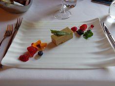 Foie gras terrine with seasonal berries, elder flower and brioche @ Restaurace Bellevue