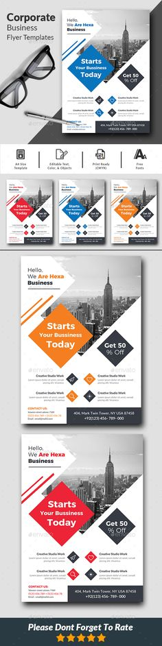 Corporate #Business Flyer Templates - #Corporate #Flyers