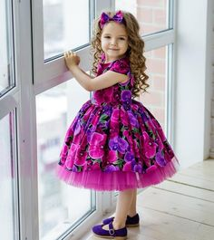 Flower Girl Dresses Kids Bows A Line Knee Length Wedding Party Dress - Baho Baba Kids Party Wear Dresses, Baby Girl Party Dresses, Dresses Kids Girl, Little Girl Outfits, Baby Dress, Cute Dresses, Kids Outfits, Flower Girl Dresses, Pink Dress