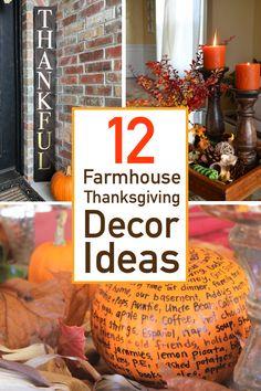 12 Farmhouse Style Thanksgiving Decorations
