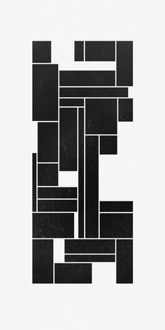 Shape 68 by Cal Dean A minimalist art design in black and white