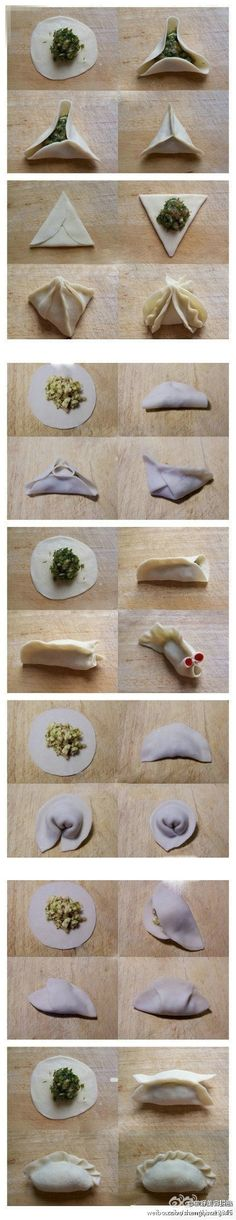 ways to fold dumplings