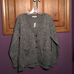 NWT Madewell Charcoal Cardigan Sweater NWT Madewell Charcoal Button Cardigan Sweater. Brand new, still has tags. Madewell Sweaters Cardigans