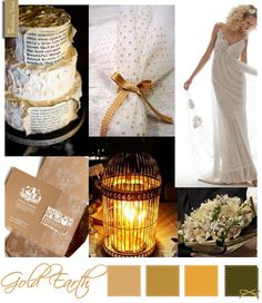 Wedding Moodboard | Gold Earth