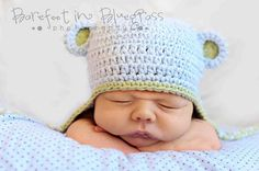 Baby Boy Monkey Hat Baby Blue and Sage Green by amberneecrochet, $24.00