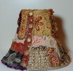 boho style lamps | Vintage Boho Shaby Chic Lamp Shade by TwaniasVintageJunkie on Etsy