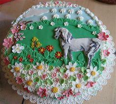 Horse Birthday Cakes for Girls | white horse — Animal