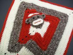Sock Monkey Blankie Buddy.... I want to make a sewn one of these