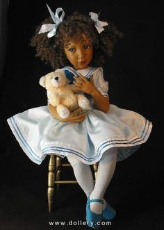 Satin Sailor complete w/chair by Jane Bradbury